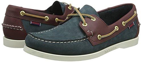 In Men's E Shoes Sebago Leather brown 41 w Spinnaker Blue Size Yzxadq