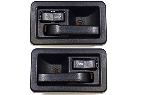 - PT Auto Warehouse CH-2833A-DP - Inside Interior Inner Door Handle, Black - Left/Right Pair