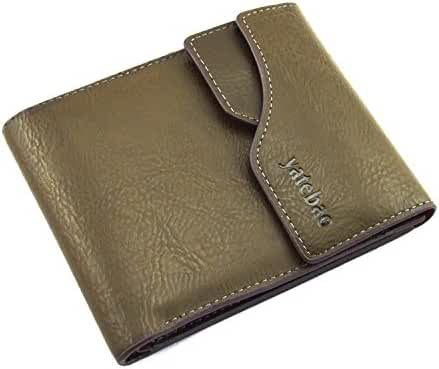 Yatebao Men's Retro Bifold Hasp Short Wallet