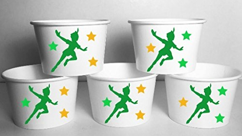 Inspired Peter Pan Snack Treat Cups Birthday Party Favor Bowls SET OF 12 ()