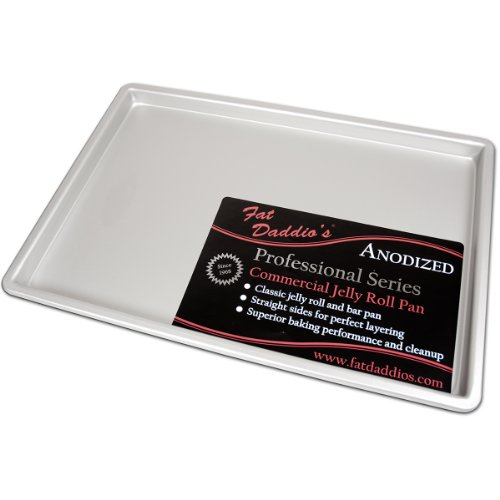 Fat Daddio's Anodized Aluminum Jelly Roll Pan, 12 Inch x 18 Inch x 1 Inch