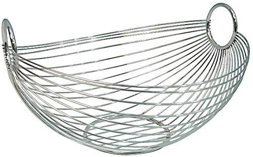 Zeller 24895 Frutero, Ovalado, Metal, Plateado, 27.5x26x15 cm