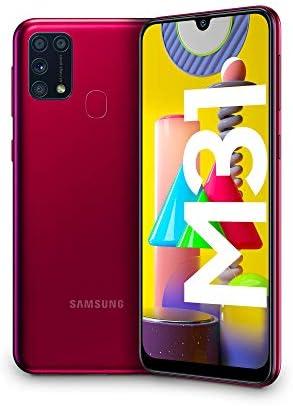 Samsung Galaxy M31, Smartphone, Display 6.4″ Super AMOLED, 4 Fotocamere Posteriori, 64 GB Espandibili, RAM 6 GB, 4G, Dual Sim, Android 10, [Versione Italiana], Red, Esclusiva Amazon