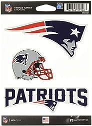 NFL New England Patriots Die Cut 3-Piece Triple Spirit Sticker Sheet