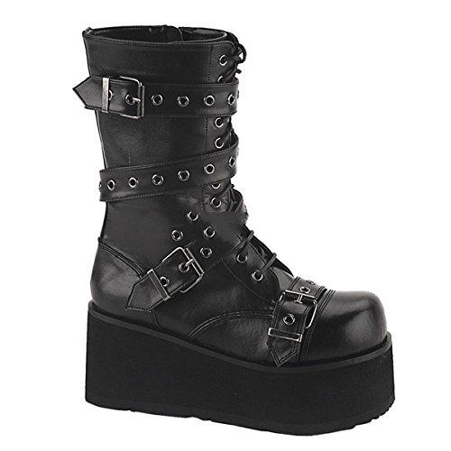 Demonia Trashville-205 - Gothic Punk Industrial Plateau Stiefel Schuhe 36-46