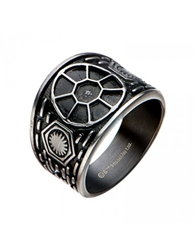 Officially Licensed Star Wars - S9, S10, S11 Tie Fighter Signet, Artwork - Ring. Size - 9. 10. 11 (9) Signet Art