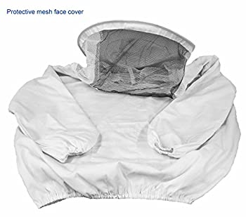 Vivo New Professional White Mediumlarge Beekeepingbee Keeping Suit, Jacket, Pull Over, Smock With A Veil By (Bee-v105) 4
