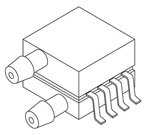 Board Mount Pressure Sensors SOP Dual Port 3V, Pack of 5 (MP3V5010DP)