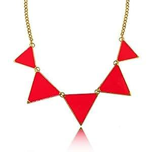 Del collar del triángulo color: rosa