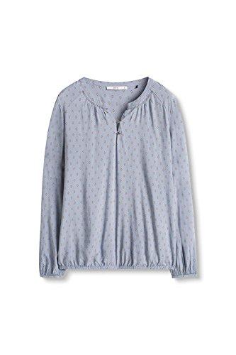 edc by ESPRIT 096CC1F009- Blusa para mujer Azul (Grey Blue 420)