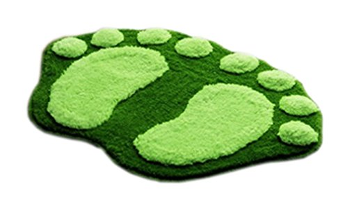 JTC Füße Muster Badematte Badeteppich Duschvorlage (Grün)