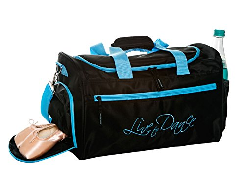 Dance Bag Clip - Horizon Dance 7042 Live to Dance Duffel Bag for Dancers - Blue