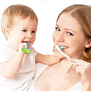 Slotic-Baby-Toothbrush-for-0-2-Years-Safe-and-Sturdy-Toddler-Oral-Care-Teether-Brush-Extra-Soft-Bristle-for-Baby-Teeth-and-Infant-Gums-Dentist-Recommended-4-Pack
