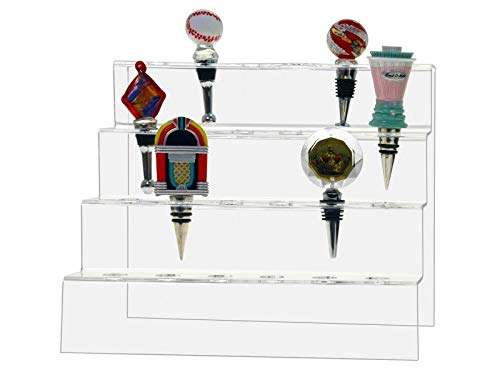 Marketing Holders Bottle Stopper 24 Slot 4 Tiered Premium Acrylic Display Rack Lot of 4 by Marketing Holders (Image #1)