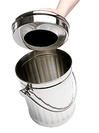 eddingtons deluxe stainless steel kitchen compost pail bin caddy with filter