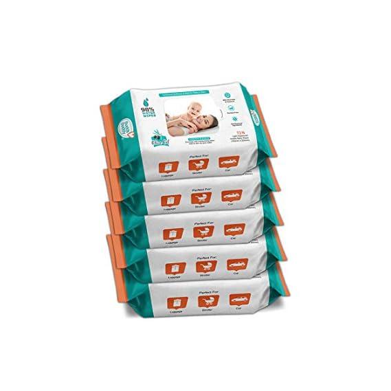 BuddsBuddy Baby Skin Care Wet Wipes 72Pcs (Combo of 2)