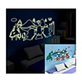 Bupt Luminous Wall Stickers Wall Decals, Style Thomas Train PVC Wall Stickers