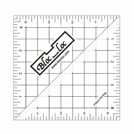 Bloc Loc Half Square Acrylic Triangle Ruler, HST- 4.5x4.5 Inches
