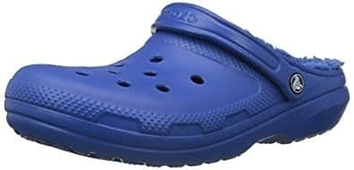 Crocs Unisex Adults Classic Lined Clog, Blue Jean/Blue Jean, M4W6