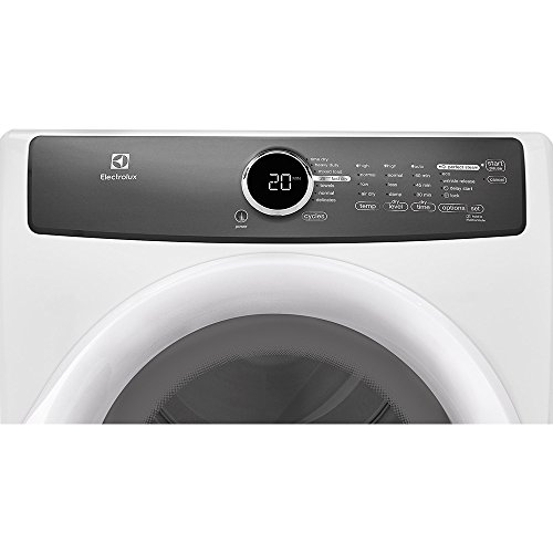 Electrolux EFME417SIW 27″ Energy Star Electric Dryer with 8 cu. ft. Capacity Perfect Steam 7 Cycles 20-Minute Fast Dry and Moisture Sensors: Island Top Price