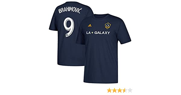 Amazon.com : adidas Zlatan Ibrahimovic LA Galaxy Mens Navy Player Name and Number T-shirt : Sports & Outdoors