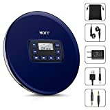 Portable CD Player, HOTT Personal Compact Walkman with Electronic Skip Protection Anti-Shock Function, Portable Disc Player with Headphones and Power Adapter
