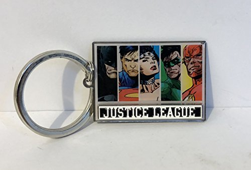 tain DC Comices Justice League Metal Keychain ()