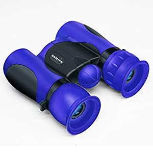 Caferria Binoculars for Kids Best Gift Toy 8×21 High Resolution Real Optics Compact Kids Binoculars Shockproof Mini…