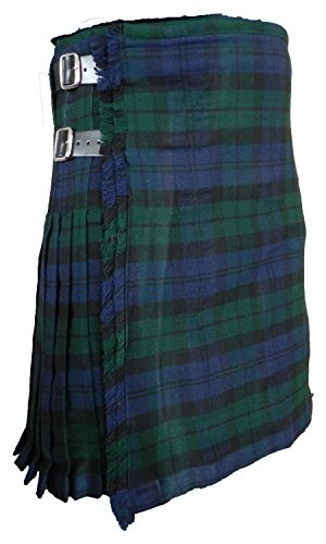 Men's Scottish Kilt Black Watch Tartan 16 oz - 8 yard (40, Black Watch)