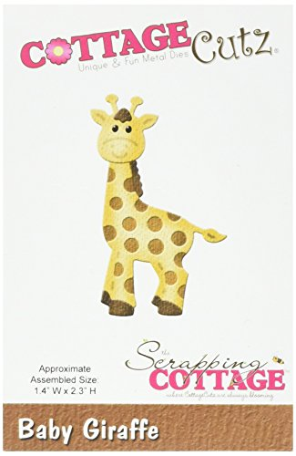 CottageCutz Die Cuts, 1.4 by 2.3-Inch, Baby Giraffe