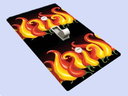 (Chili Pepper Flames Switchplate - Switch Plate Cover)