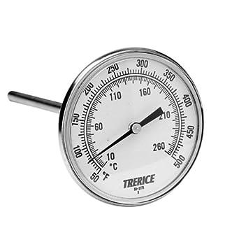 1//2 NPT Connection Trerice B831X0227 X-Series OEM Bimetal Thermometer 3 face 2.5 stem 0-250˚F /& C