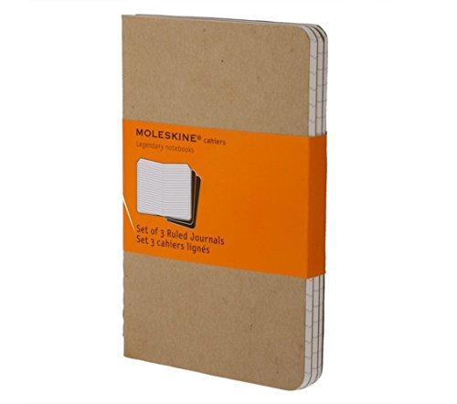 Price comparison product image Moleskine Cahier Journal (Set of 3), Large, Ruled, Kraft Brown, Soft Cover (5 x 8.25): set of 3 Ruled Journals