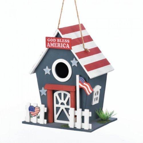 Smart Living Wooden Bird Houses, Wooden Americana Outdoor