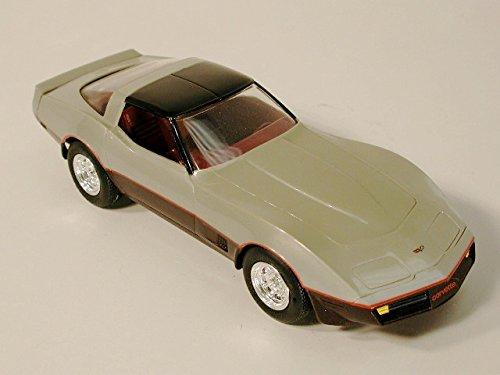 Corvette Promo Model Coupe Silver / Dark Claret 1982