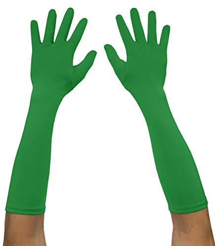 Seeksmile Adult Spandex Elbow Length Costume Gloves (Free