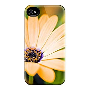 Tpu Shockproof/dirt-proof Growing Flowers Cover Case For Iphone(4/4s)
