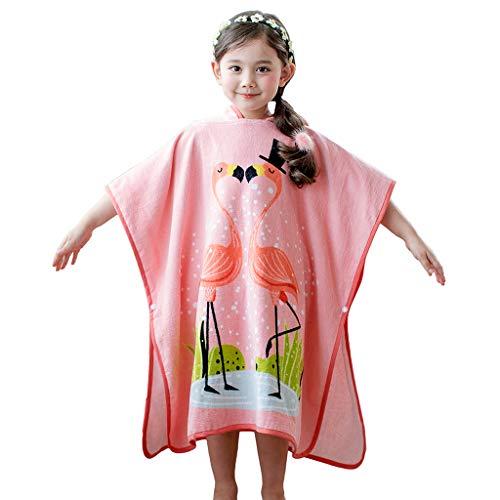 Albornoz para Niños Manta de baño con Capucha para Niñas Toalla de playa para Niños Nadando Ropa de dormir 3-8 Años