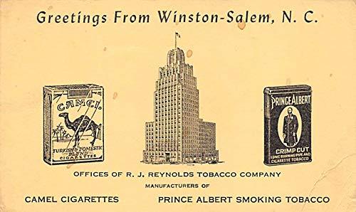 Tobacco Post Card Camel Cigarettes Winston Salem, North Carolina, USA 1941 (Cigarettes Camel Memorabilia)