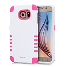 Korecase Combo S6 Case,Galaxy S6 Case,Shockproof Heavy Duty Combo Hybrid Defender High Impact Body Rugged Hard PC & Silicone Case Protective Cover For Samsung Galaxy S6