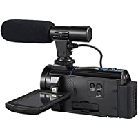 Camcorder 4K Camera Video Camera WiFi Camcorder Ultra HD 30MP Digital Camera 3.0'' Touch Screen Support External Microphone