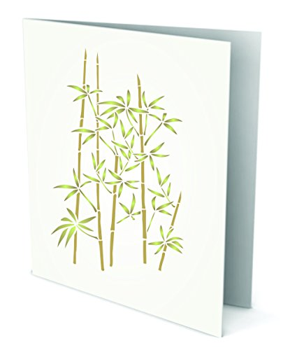 """Terra Cotta Bamboo (Bamboo Stencil - (size 4.5""""w x 7.5""""h) Reusable Wall Stencils for Painting - Best Quality Wall Art Décor Ideas - Use on Walls, Floors, Fabrics, Glass, Wood, Terracotta, and More…)"""