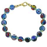 GlassOfVenice Murano Glass Mosaic Bracelet - Transparent Blue