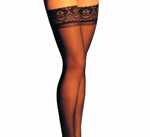 ITA-MED Sheer Thigh Highs, Compression (23-30 mmHg) Black, XXLarge by ITA-MED