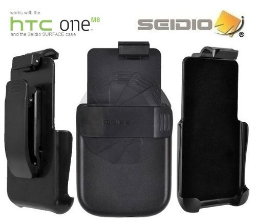 Seidio Surface Belt Clip for HTC One M8 - Retail Packaging - Black