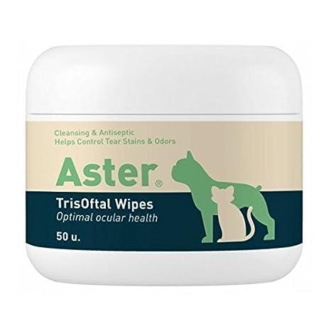 Vetnova Aster TrisOftal Wipes toallitas dermatológicas: Amazon.es: Productos para mascotas
