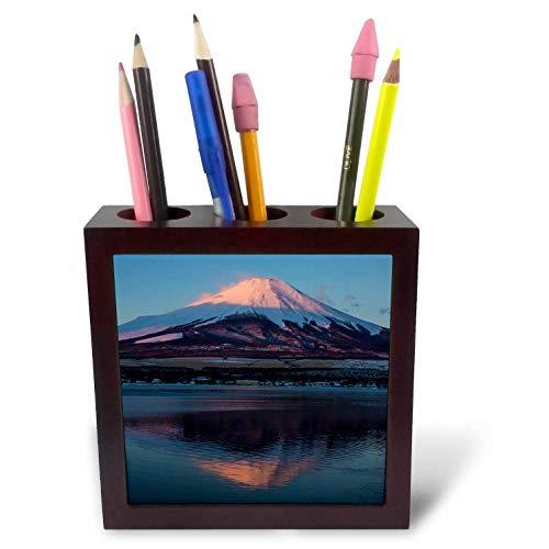 3dRose Danita Delimont - Japan - Japan, Honshu Island. Mt. Fuji and Lake at Sunrise. - 5 inch Tile Pen Holder (ph_312759_1) ()