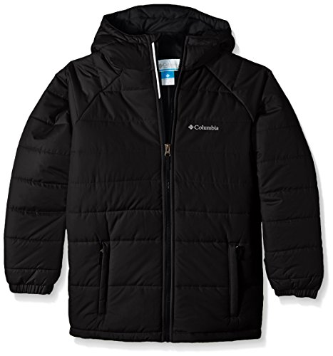 Columbia Big Boys' Tree Time Puffer Jacket, Black, Small