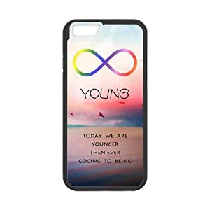 """ROBIN YAM Disney Forever Young iPhone 6 Case (4.7""""), Hard TPU Rubber Coated Phone Cases Cover -DRY508"""