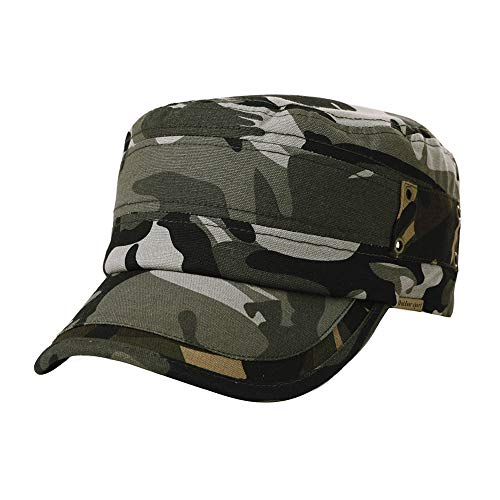 (Womens Army Cap Military Sun Hat Men Large Baseball Cadet Camouflage Camoflauge Camo Gray)